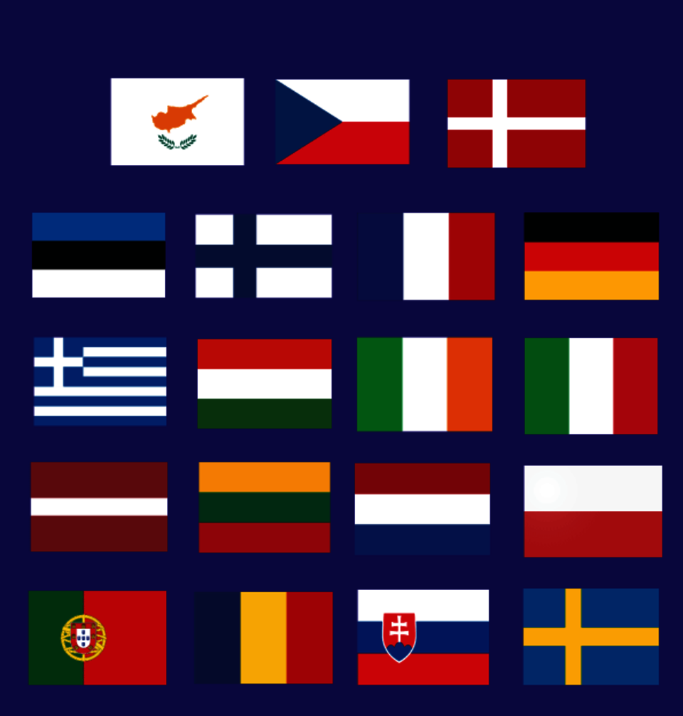 Flags of the members of the European Centre of Excellence for Civilian Crisis Management