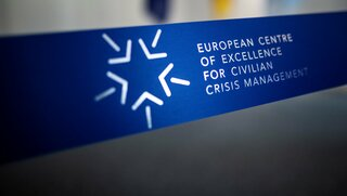 Branded Opening Ribbon of the European Centre of Excellence for Civilian Crisis Management