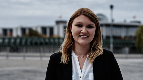 Portrait of Franziska Zibert, Junior Policy Officer for Public Relations
